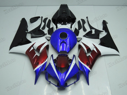 2006 2007 Honda CBR1000RR Fireblade blue/red/white/black fairings and body kits, Honda CBR1000RR Fireblade OEM replacement fairings and bodywork.