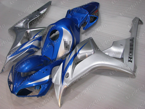 2006 2007 Honda CBR1000RR blue and silver fairing