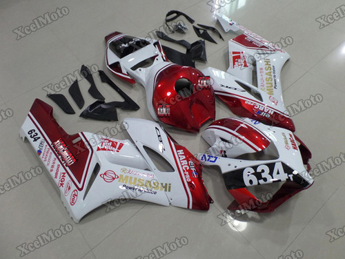 2004 2005 Honda CBR1000RR Fireblade Musashi fairings and body kits, Honda CBR1000RR Fireblade OEM replacement fairings and bodywork.