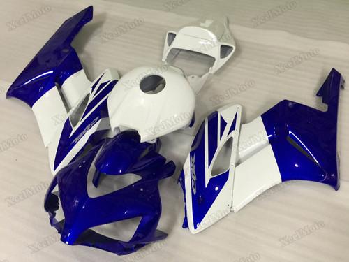 2004 2005 Honda CBR1000RR Fireblade blue/white fairings and body kits, Honda CBR1000RR Fireblade OEM replacement fairings and bodywork.