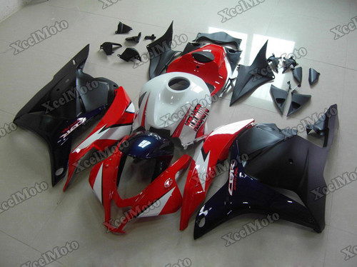 2009 2010 2011 2012 Honda CBR600RR red/white/blue/black fairings and body kits, Honda CBR600RR OEM replacement fairings and bodywork.