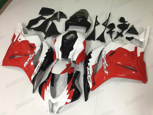 2009 2010 2011 2012 Honda CBR600RR red/white/black fairings and body kits, Honda CBR600RR OEM replacement fairings and bodywork.
