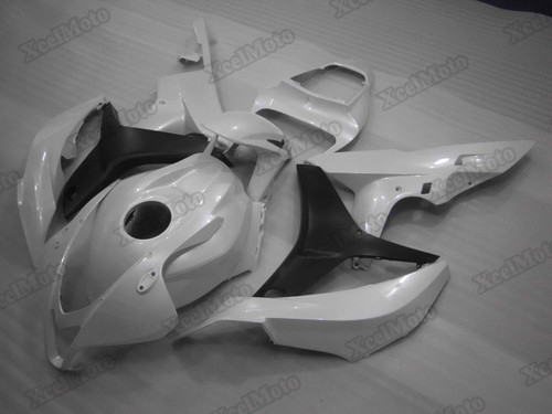 2007 2008 Honda CBR600RR pearl white/matte black fairings and body kits, Honda CBR600RR OEM replacement fairings and bodywork.