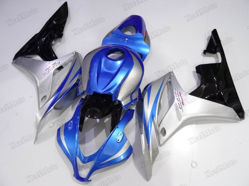 2007 2008 Honda CBR600RR blue/silver/black replacement fairings