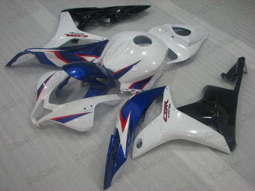2007 2008 Honda CBR600RR blue/white/black fairings and body kits, Honda CBR600RR OEM replacement fairings and bodywork.