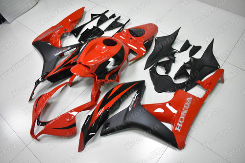2007 2008 Honda CBR600RR F5 red and black fairing