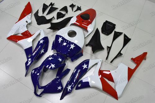 2007 2008 Honda CBR600RR US flag fairings