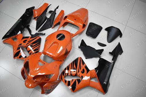 2005 2006 Honda CBR600RR orange tribal fairing
