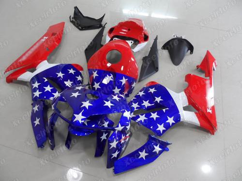 2005 2006 Honda CBR600RR F5 American Flag graphic fairing kit, 2005 2006 Honda CBR600RR F5 custom fairing kit.