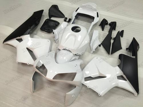 2003 2004 Honda CBR600RR white/black fairings and body kits, Honda CBR600RR OEM replacement fairings and bodywork.