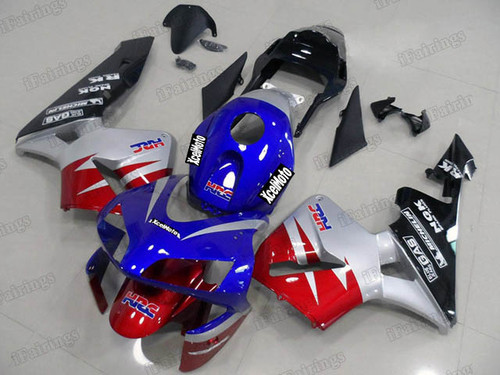 2003 2004 Honda CBR600RR original fairings and body kits, Honda CBR600RR OEM replacement fairings and bodywork.