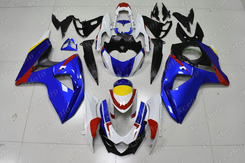 2009 2010 2011 2012 2013 2014 2015 2016 Suzuki GSXR1000 blue and white fairing