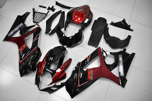 2007 2008 Suzuki GSXR1000 Gixxer red and black fairing