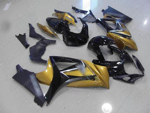 2007 2008 Suzuki GSXR1000 Gixxer gold and black fairing and bodywork