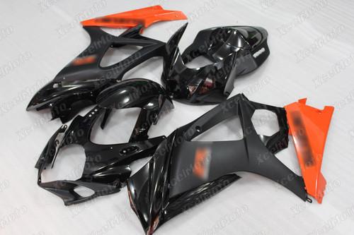 2007 2008 Suzuki GSXR1000 Gixxer black and orange fairing