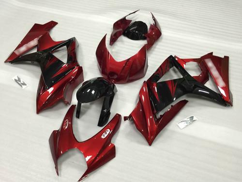2007 2008 Suzuki GSXR1000 Gixxer red and black fairing