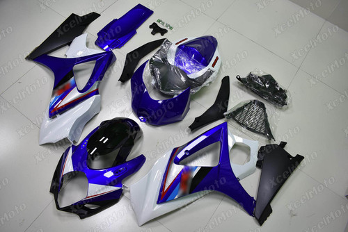 2007 2008 Suzuki GSXR1000 Gixxer blue white and black fairing