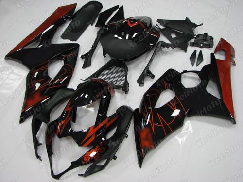 2005 2006 Suzuki GSXR1000 GIXXER K5 K6 gloss black fairing