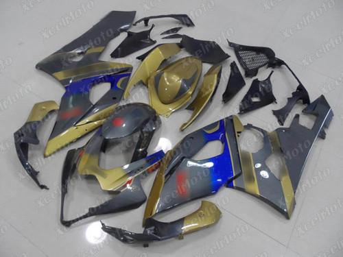 2005 2006 Suzuki GSXR1000 GIXXER K5 K6 gold and grey fairing kit
