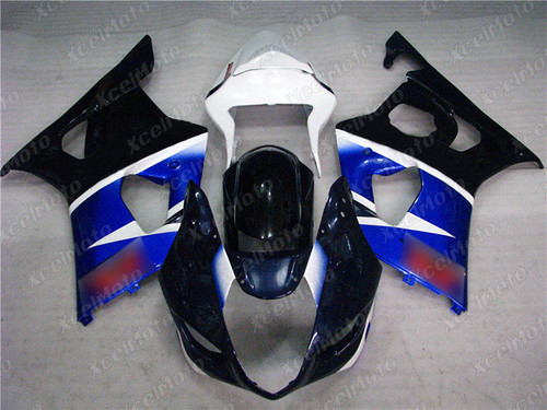 2003 2004 SUZUKI GSXR1000 GIXXER K3 K4 aftermarket fairing blue white and black