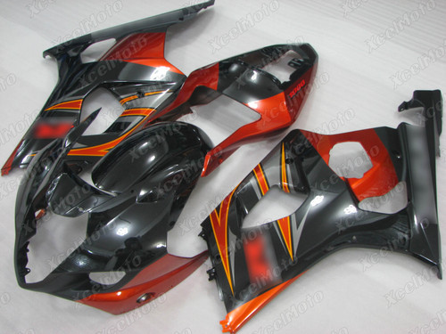 2003 2004 SUZUKI GSXR1000 GIXXER K3 K4 gloss black and orange fairing