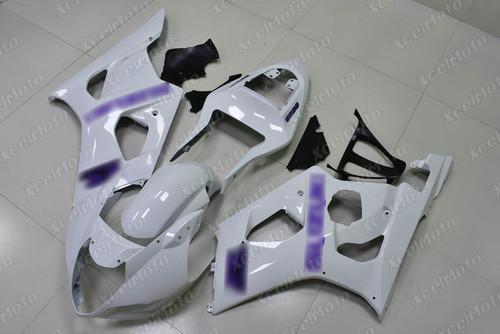 2003 2004 SUZUKI GSXR1000 GIXXER K3 K4 pearl white fairing with purple stickers