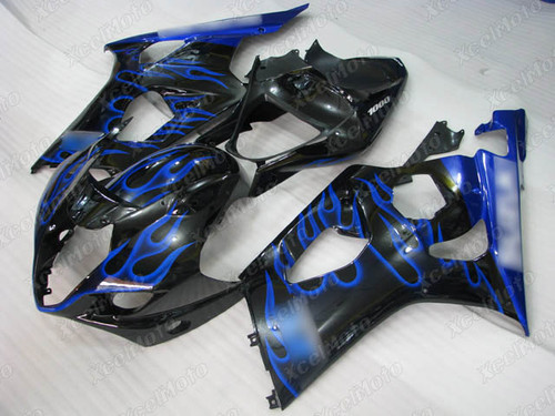 2003 2004 SUZUKI GSXR1000 GIXXER K3 K4 blue flame fairing