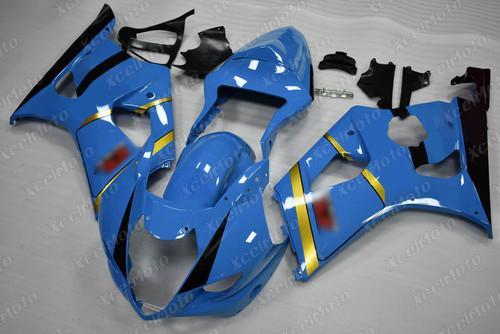 2003 2004 SUZUKI GSXR1000 GIXXER K3 K4 custom blue fairing