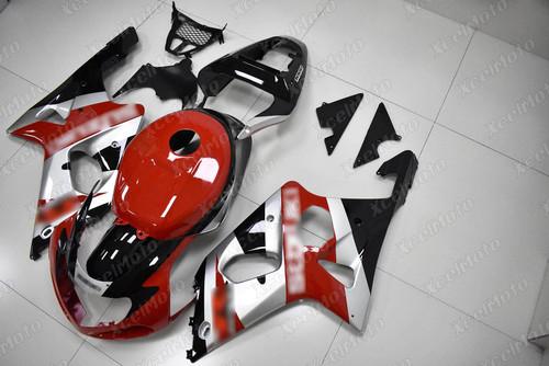 2001 2002 SUZUKI GSXR1000 GIXXER K1 K2 red and silver fairing