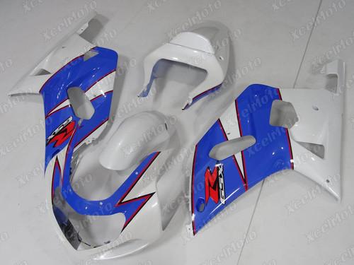 2001 2002 SUZUKI GSXR1000 GIXXER K1 K2 white and blue fairing