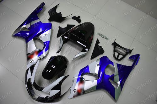 2001 2002 SUZUKI GSXR1000 GIXXER K1 K2 OEM fairing blue and black