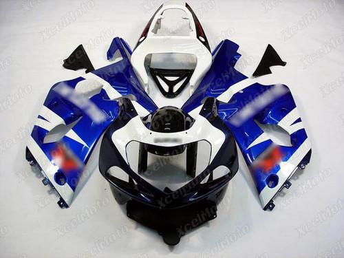 2001 2002 SUZUKI GSXR1000 GIXXER K1 K2 blue and white fairing