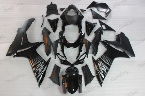 2011 to 2018 2019 Suzuki GSXR600/750 black fairings and body kits, Suzuki GSXR600/750 OEM replacement fairings and bodywork.