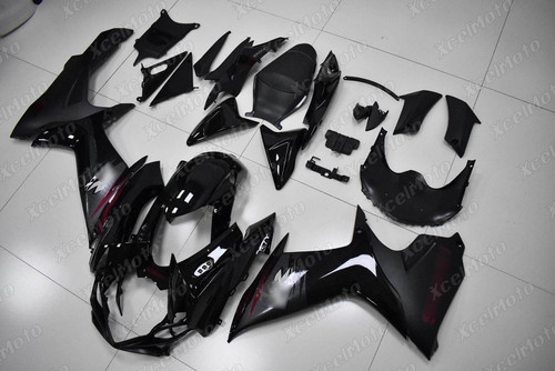 2011 to 2018 2019 2020 Suzuki GSXR 600/750 black fairing