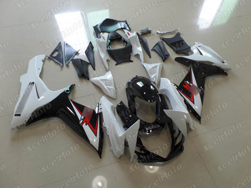 2011 to 2018 2019 2020 Suzuki GSXR600/750 white and black fairings and body kits, Suzuki GSXR600/750 OEM replacement fairings and bodywork.