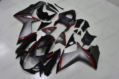 2011 to 2018 2019 Suzuki GSXR600/750 matte grey and matte black fairings and body kits, Suzuki GSXR600/750 OEM replacement fairings and bodywork.