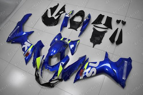 2011 to 2018 2019 2020 Suzuki GSXR 600/750 OEM fairing in blue scheme