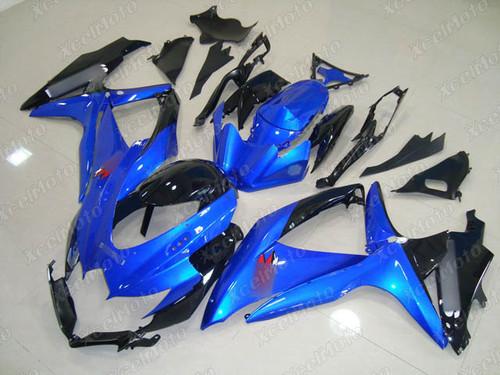 2008 2009 2010 Suzuki GSXR600/750 blue and black fairings and body kits, Suzuki GSXR600/750 OEM replacement fairings and bodywork.