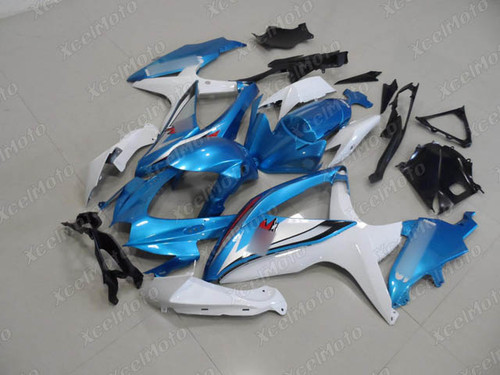 2008 2009 2010 Suzuki GSXR600/750 blue and white fairings and body kits, Suzuki GSXR600/750 OEM replacement fairings and bodywork.