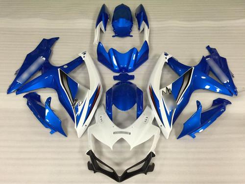 2008 2009 2010 Suzuki GSXR600/750 blue and white fairing