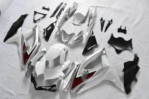 2008 2009 2010 Suzuki GSXR600/750 white and black fairing