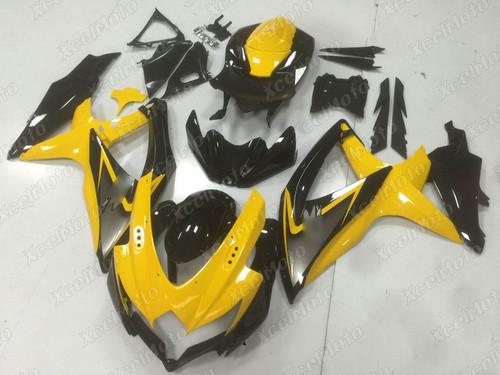 2008 2009 2010 Suzuki GSXR600/750 yellow and black fairing