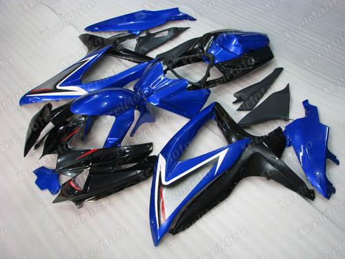 2008 2009 2010 Suzuki GSXR600/750 blue and black fairing