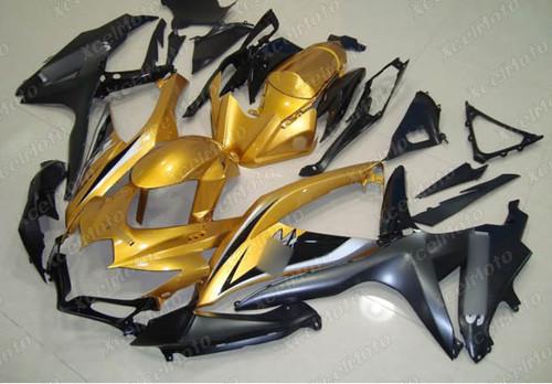2008 2009 2010 Suzuki GSXR600/750 gold and black fairing kit.