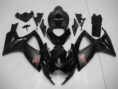 2006 2007 Suzuki GSXR600/750 gloss black and matte black fairing