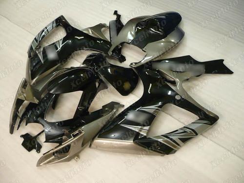2006 2007 Suzuki GSXR600 GSXR750 black and grey fairing