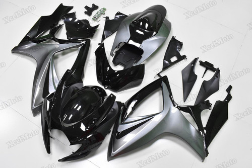 2006 2007 Suzuki GSXR600/750 black and grey fairings and body kits, Suzuki GSXR600/750 OEM replacement fairings and bodywork.