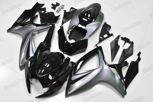 2006 2007 Suzuki GSXR600/750 black and grey fairings and body kits, Suzuki GSXR600/750 OEM replacement fairings and bodywork.