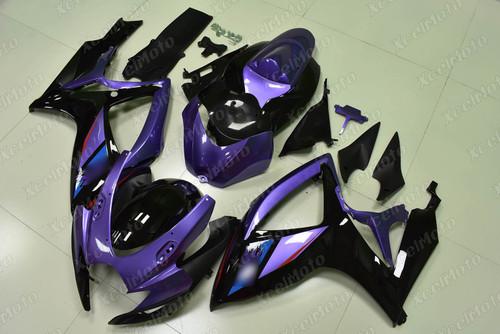 2006 2007 Suzuki GSXR600 GSXR750 purple and black fairing