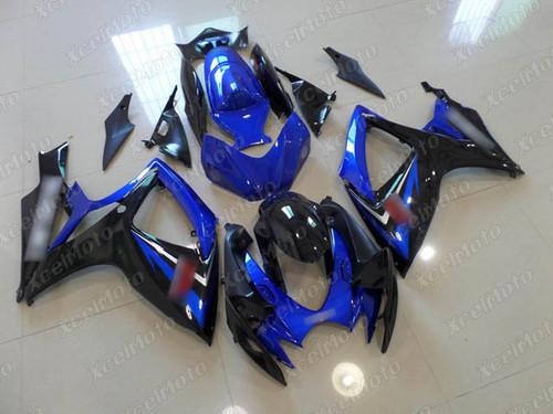 2006 2007 Suzuki GSXR600/750 blue and black fairings and body kits, Suzuki GSXR600/750 OEM replacement fairings and bodywork.